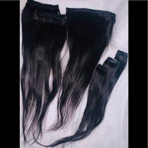 "20"" 100% Virgin Human Hair Clip-in extensions"